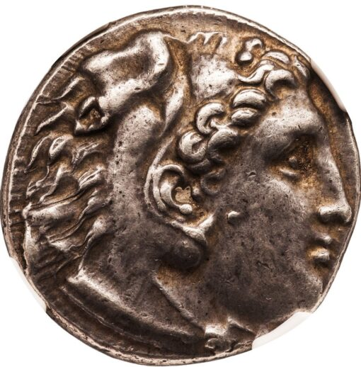 ALEXANDER THE GREAT SILVER TETRADRACHM - POSTHUMOUS EMISSION OF MILETUS - XF NGC GRADED GREEK MACEDON COIN (Inv. 10809)