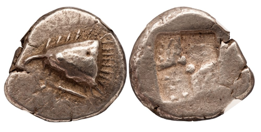 SINOPE SILVER DRACHM - NICE SPECIMEN OF RARE CLASSICAL PERIOD VARIETY - NGC AU STAR NGC GRADED GREEK PAPHLAGONIA COIN (Inv. 11021)