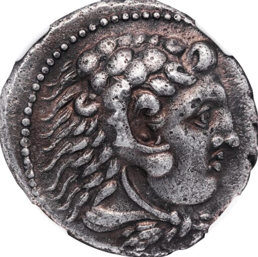 ALEXANDER III THE GREAT SILVER TETRADRACHM - 324/23 BC ALEXANDER DEATH YEAR DATED LIFETIME ISSUE FROM AKE OR TYRE - CHOICE AU NGC GRADED GREEK MACEDONIAN COIN (Inv. 11185)