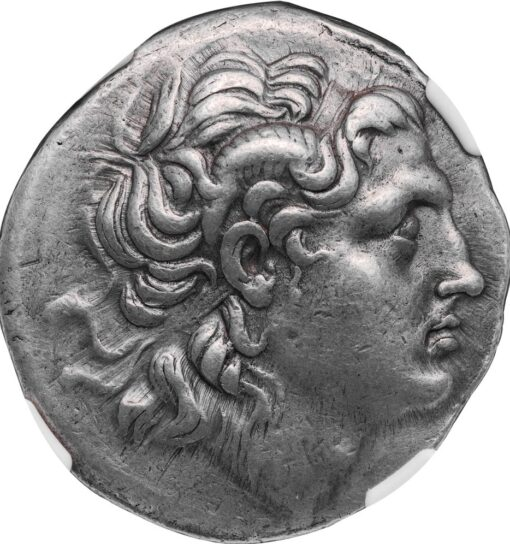LYSIMACHUS SILVER TETRADRACHM - SCARCE LIFETIME ISSUE FROM AMPHIPOLIS - CHOICE XF FINE STYLE NGC GRADED GREEK THRACE COIN (Inv. 11223)