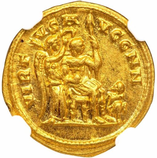 DIOCLETIAN GOLD AUREUS - VERY RARE ISSUE FROM CYZICUS WITH INTRICATE IMPERIAL TYPE - MINT STATE STAR NGC GRADED ROMAN IMPERIAL COIN (Inv. 11970)