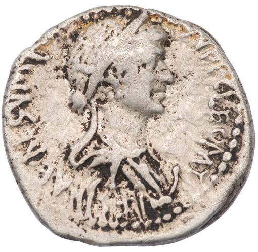 MARC ANTONY AND CLEOPATRA VII SILVER DENARIUS - HISTORICAL ISSUE OF ALEXANDRIA SHOWING THE EGYPTIAN QUEEN ALONGSIDE HER ROMAN HUSBAND - VERY FINE NGC GRADED ROMAN IMPERATORIAL COIN (Inv. 12648)