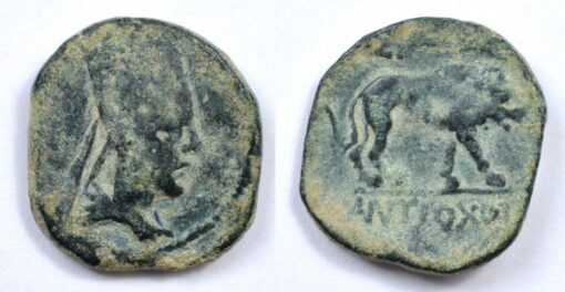 ANTIOCHOS I KINGS OF COMMAGENE BRONZE AE 22 WITH STRIDING LION - RARE ARMENIAN COIN (Inv. 6577)