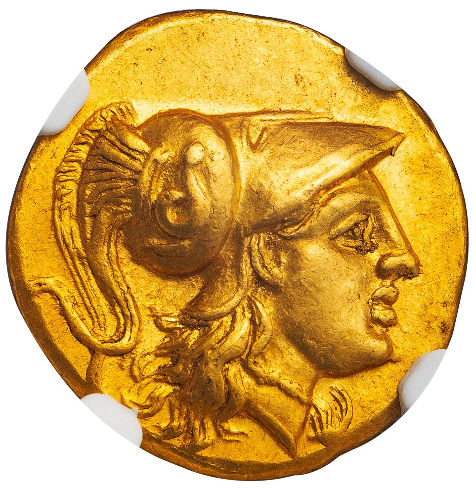 Alexander The Great Gold Stater Posthumous Issue Of Lampsacus With
