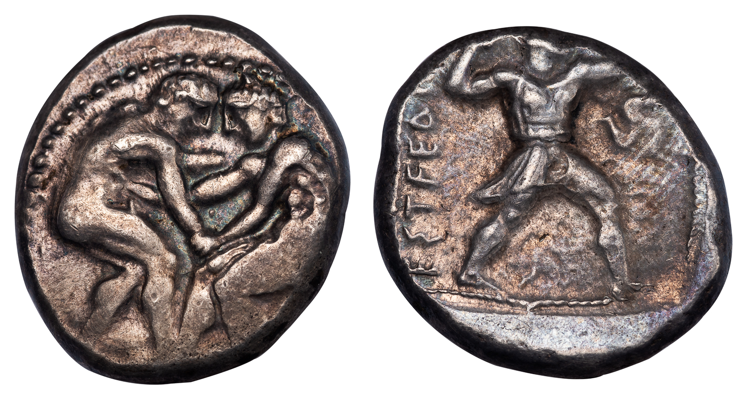 ASPENDUS SILVER STATER - EARLY WRESTLERS AND SLINGER TYPE